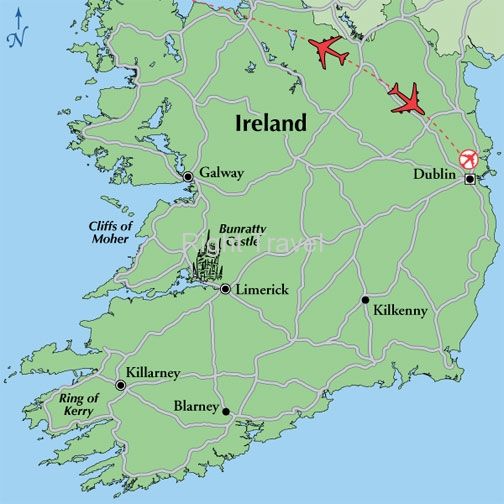 8 Day Irish Tour Fly and Drive