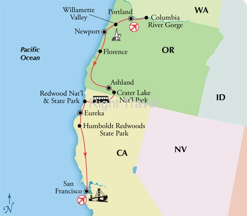 8 Day Pacific Northwest with Columbia River Gorge