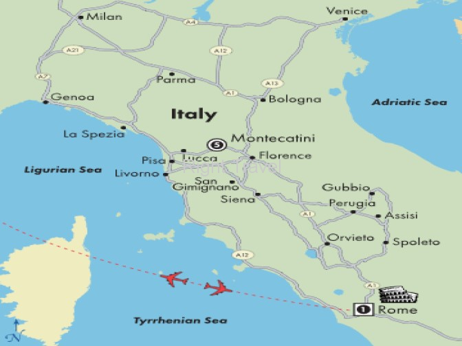 8 Day Tuscany Fly & Drive with Rome