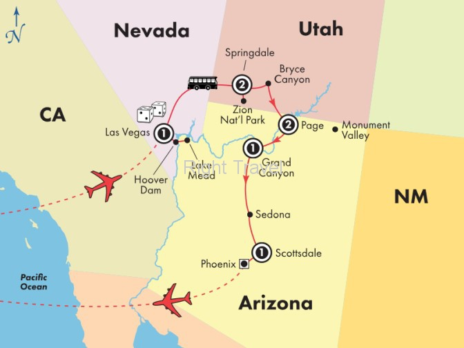 8 Day Zion, Bryce Canyon & Grand Canyon National Parks