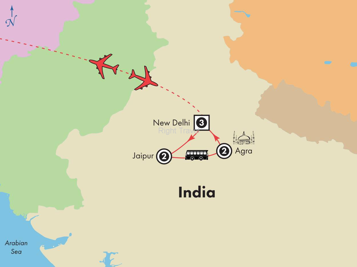 10 Day Golden Triangle of India (Los Angeles Special)