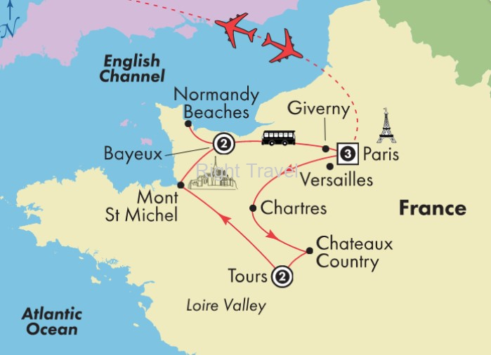 9 Day France with Loire Valley & Normandy